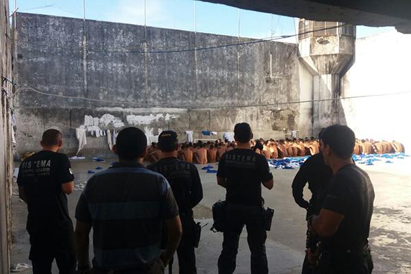 Túnel foi encontrado durante inspeção no Pavilhão A