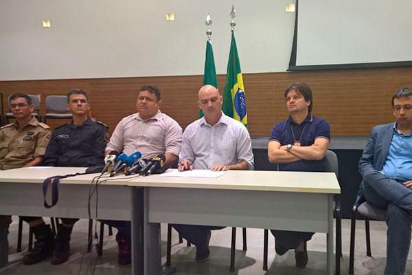 Cúpula da Segurança Pública concedeu coletiva sobre rebelião de Alcaçuz
