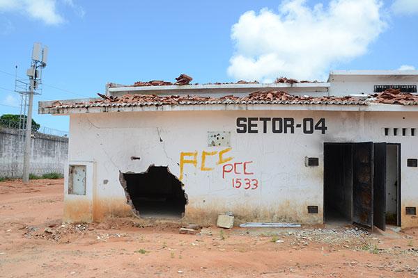 O Pavilhão 4, em Alcaçuz, foi o palco do ataque que deu início à rebelião. É a área mais destruída do presídio