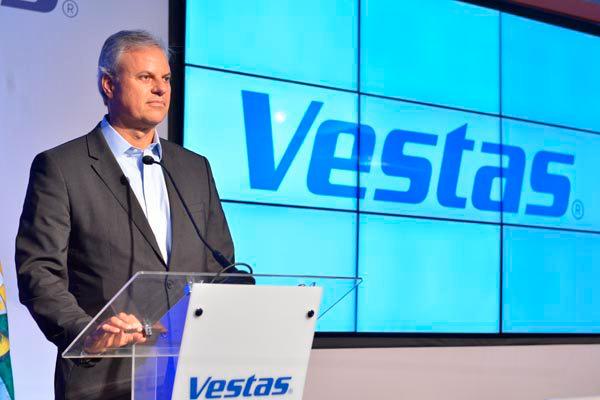 Rogério Zampronha, da Vestas Brasil, presidiu a inauguração