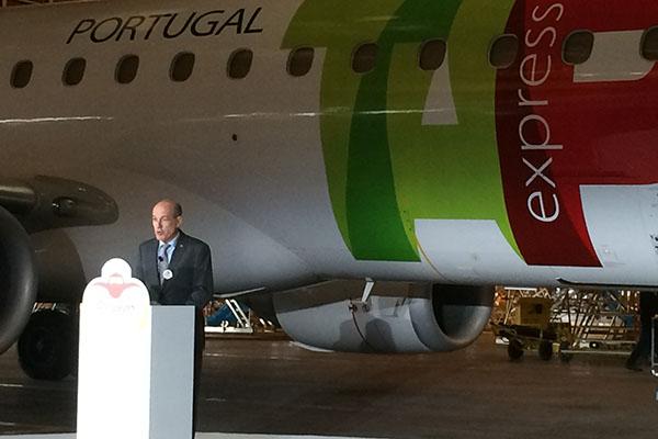 Presidente da companhia aérea TAP, Fernando Pinto
