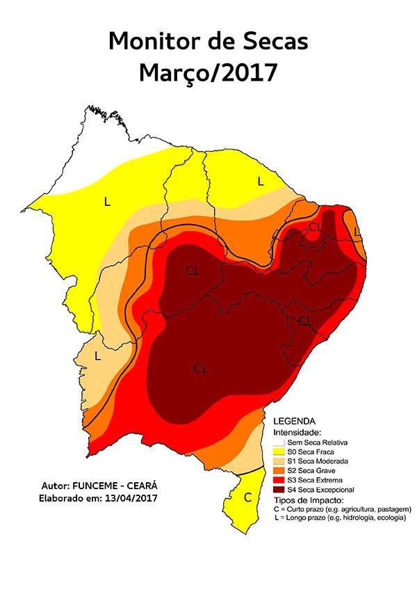 Mapa da seca