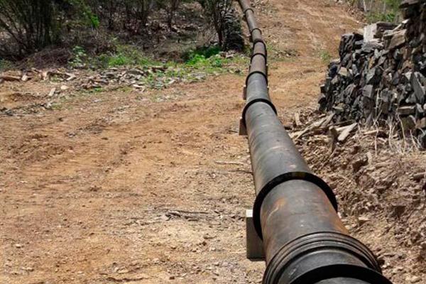 A adutora emergencial do Seridó terá 63,3 quilômetros de extensão, a partir do Sistema Adutor Serra de Santana, em Jucurutu