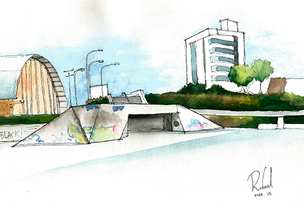 Comunidade virtual de pintores e arquitetos, o Urban Sketchers promove encontros e passeios para olhar a cidade e as pessoas