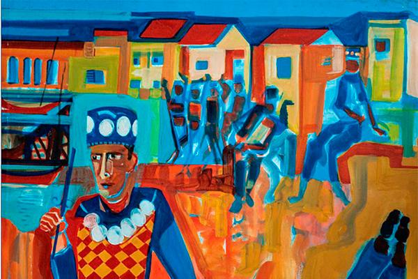 'Congos' (1999), em técnica mista com relevo, de Dorian Gray Caldas