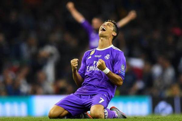 Cristiano Ronaldo comemora conquista do título da Champions