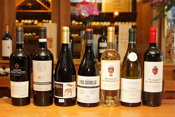 Seleção de vinhos italianos presentes nesta edição da Grand Tasting Natal, para degustar e comprar