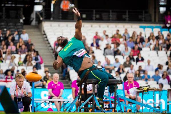 Thiago Paulino anos venceu a competição ao registrar alcançar a marca de 14,31m em seu terceiro lançamento