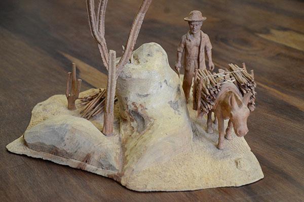 Escultura de Santos, artista potiguar que já foi tema de exposição no Museu Câmara Cascudo