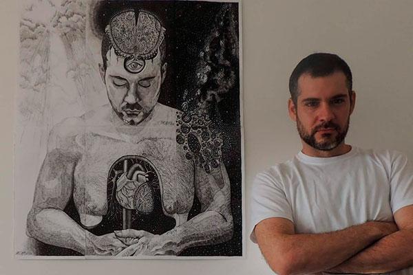O artista Ramiro Barros, que também é escritor e procurador: Imagens de duas perspectivas