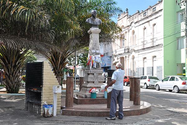 Praça Padre João Maria é um dos logradouros mais famosos do sítio histórico da Cidade Alta