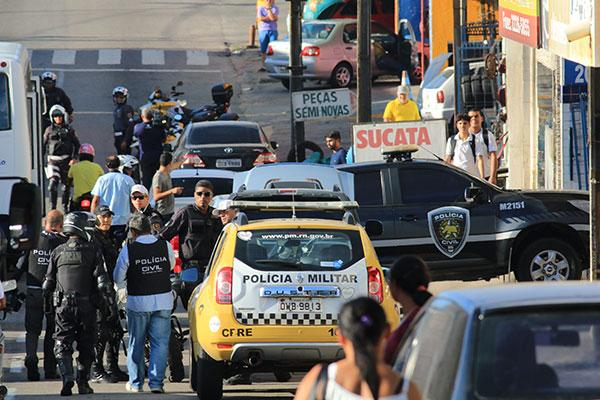 Sesed tem feito operações nas Áreas Integradas de Segurança Pública (AISPs), como a que ocorreu dia 9, no bairro de Dix-sept Rosado