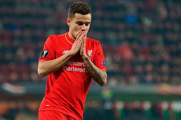 Phillipe Coutinho já não deve jogar pelo Liverpool nas próximas rodadas até encerrar contrato
