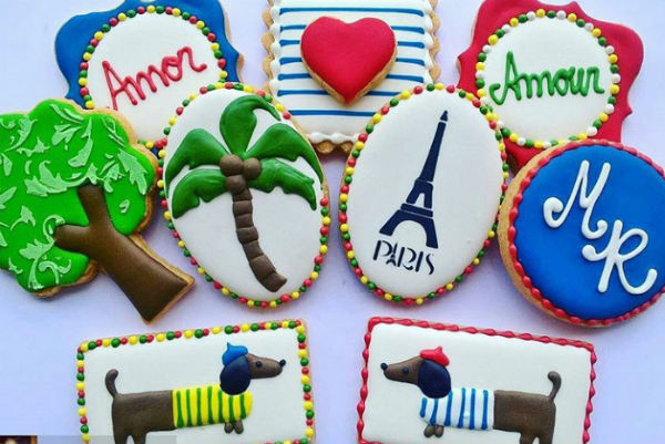 Biscoitos com temas franceses