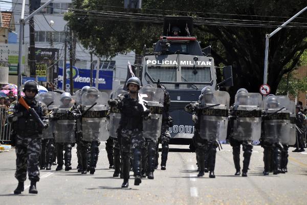 Tropa de Choque da Polícia Militar do RN no Desfile da Independência em Natal