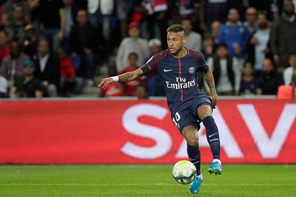 O atacante Neymar, atualmente no PSG, irá encarar o time do Celtic pela quinta vez na carreira