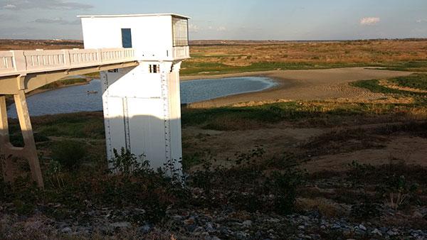 Açude Itans, em Caicó, está com 856 mil metros cúbicos de água, o equivalente a 1,05% da capacidade total (811,750 milhões m³)