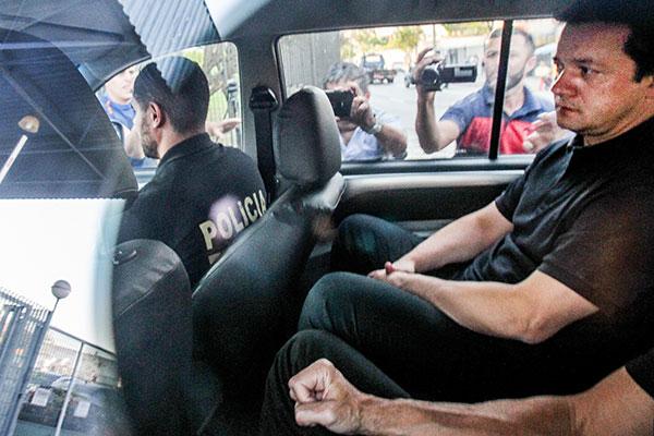 Presidente da JBS e irmão de Joesley, Wesley Batista é levado para a superintendência da Polícia Federal, em São Paulo