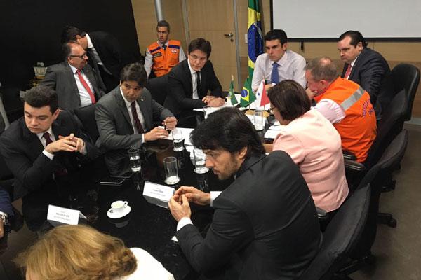 Governador Robinson Faria e bancada federal do RN se reúnem para solicitar liberação de recursos para ações contra a seca no Estado