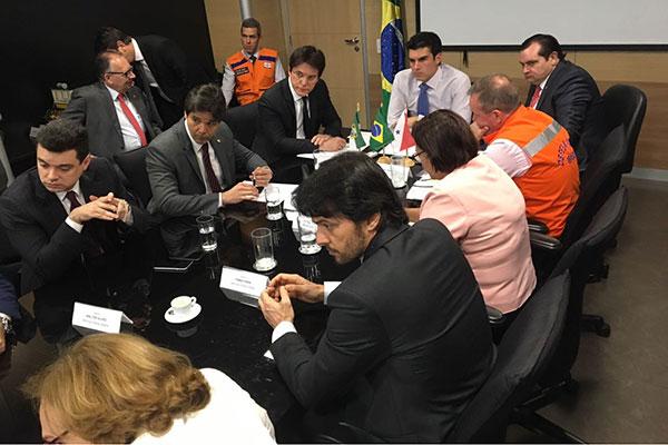 Robinson Faria e parlamentares do RN solicitaram liberação emergencial de recursos em audiência ontem com o ministro Helder Barbalho