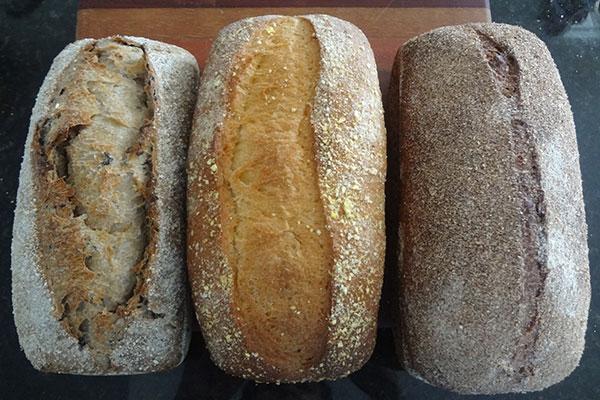 Fornada da Ciabattas: Pães de aveia com mix de sementes, milho e 100% integral