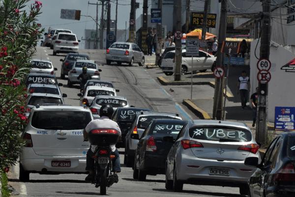 Motoristas de Uber já fizeram diversos protestos contra projeto