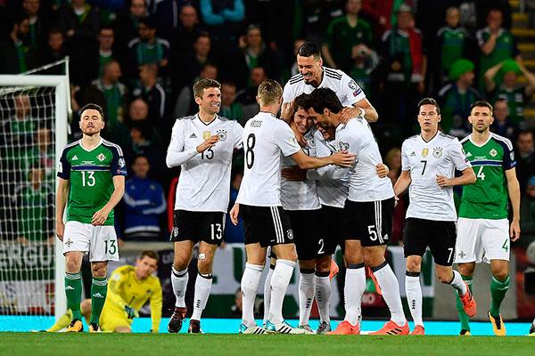 A Alemanha derroutou a Irlanda por 3 a 1 na cidade de Belfast