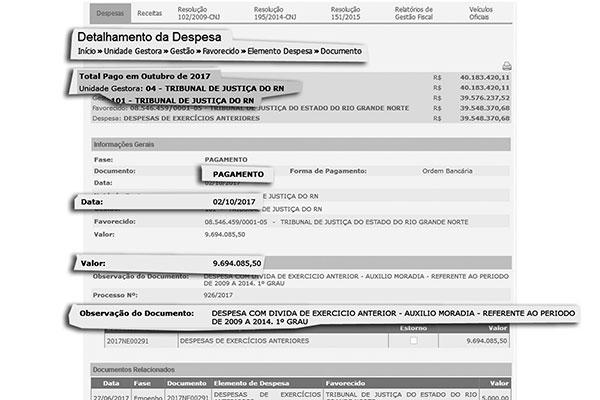 Portal da Transparência apresenta o valor pago no dia 02/10, mas sem qualquer detalhamento