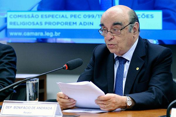 Bonifácio de Andrada permanece na função de relator