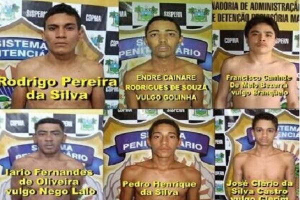Presos fugitivos do CDP Assu. Apenas Francisco Canindé de Melo Bezerra foi recapturado