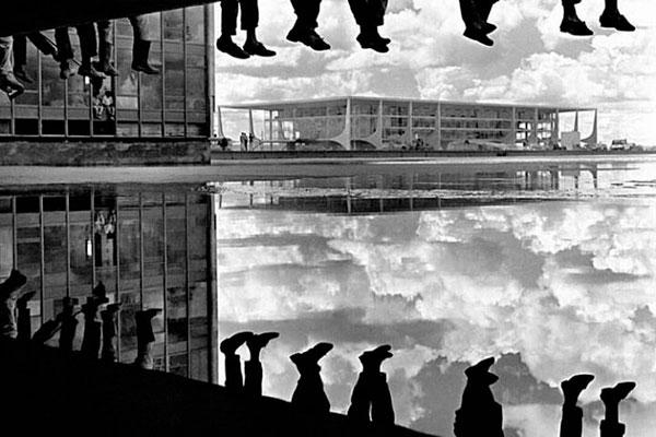 Operários no Palácio do Planalto em obra