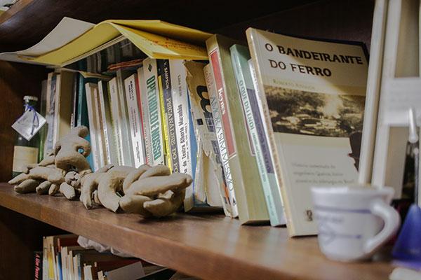 Alguns livros da estante pessoal de Woden Madruga