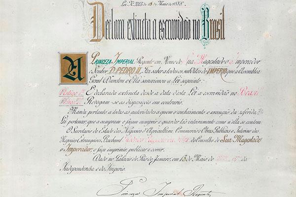 Documento da Lei Áurea