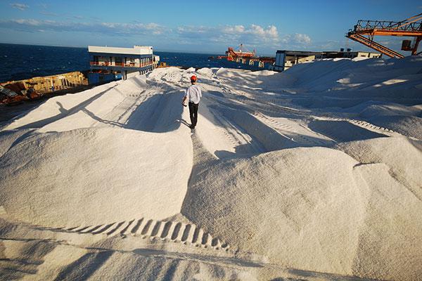 Carregamento de sal está parado desde o final de semana passado; Codern não fala sobre o caso