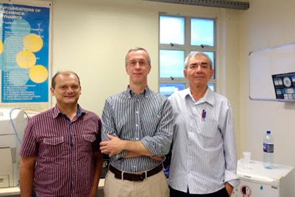 João Medeiros, Luís Vicente e Liacir Lucena são pesquisadores