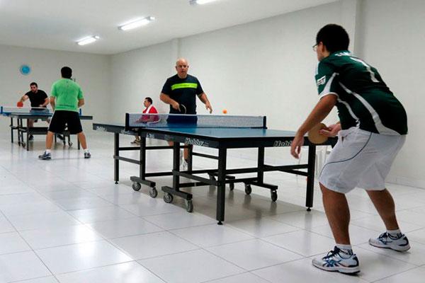 Espaço para tênis de mesa no Clube da AABB Natal