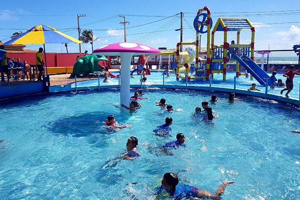 Parque é muito procurado por pais e filhos pequenos em busca de diversão