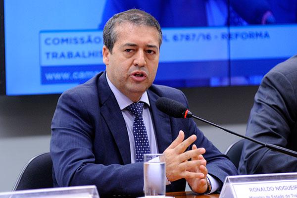 Ronaldo Nogueira deixou o cargo de ministro do Trabalho