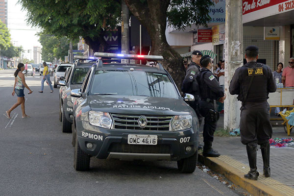Viaturas do Grupamento da Cavalaria saíram às ruas ontem