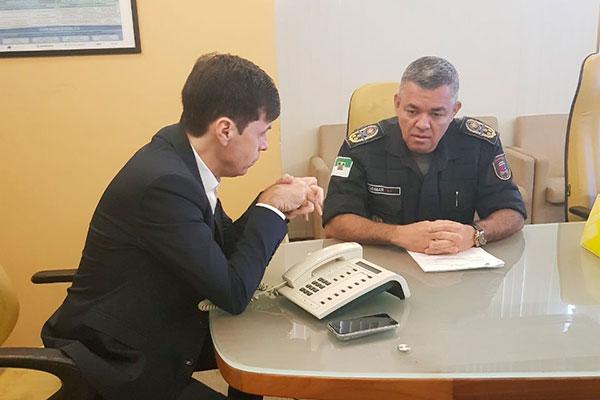 Gustavo Nogueira e Osmar de Oliveira tiveram reunião na manhã desta quarta-feira