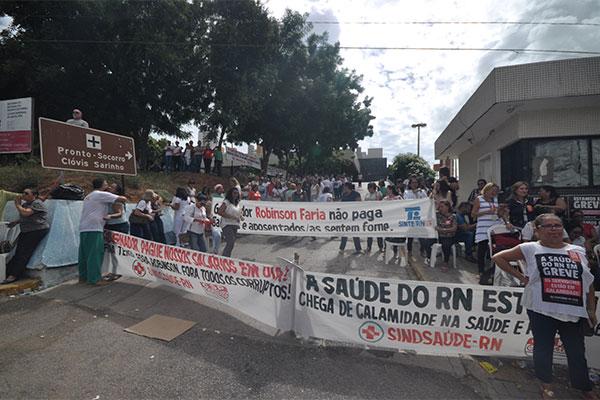 Em 'apagão' na terça-feira (9), servidores da Saúde, em greve, bloquearam os acessos ao HWG