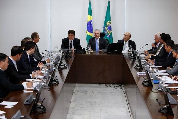 Governador e bancada federal são recebidos pelo presidente Michel Temer