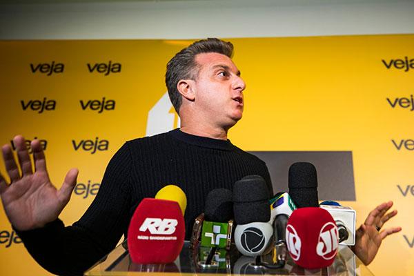 """Luciano Huck voltou a figurar como """"possível candidato"""""""