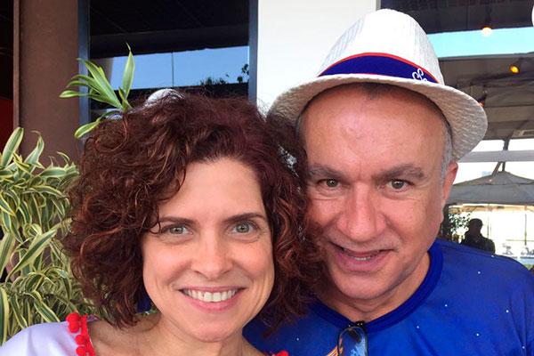 A chef Flávia Quaresma com o carnavalesco Severo Luzardo