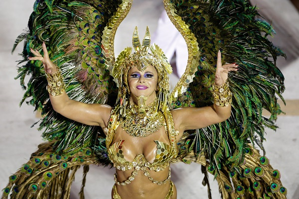 Viviane Araújo no desfile da escola de samba Acadêmicos do Salgueiro no Grupo Especial do Carnaval do Rio de Janeiro 2018
