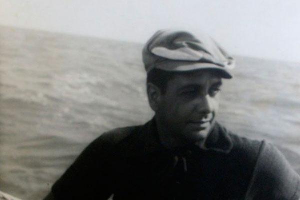 Sylvio Pedroza foi velejador e atleta de tênis: Aqui, na travessia Natal a Fortaleza