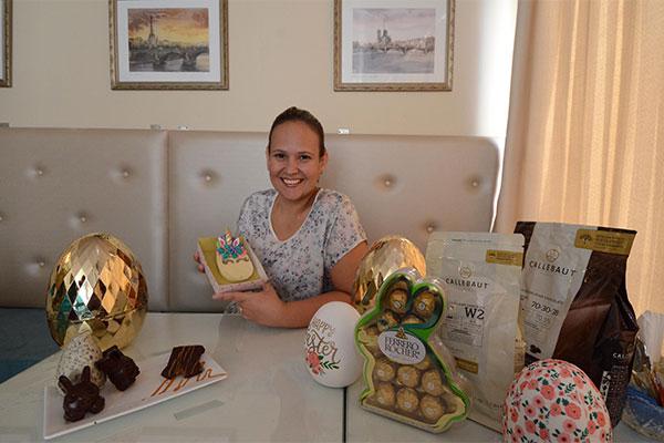 Thaísa deixou a engenheira química de lado e investiu em boutique de doces e chocolates artesanais