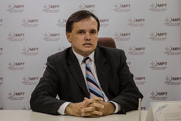 Luís Fabiano Pereira é Procurador-Chefe do Ministério Público do Trabalho (MPT)