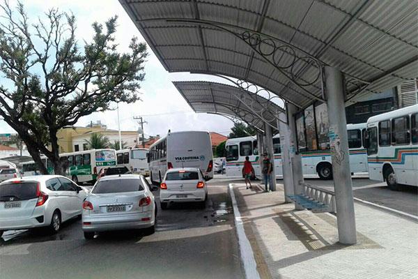 Trânsito ficou congestionado por causa do protesto dos motoristas