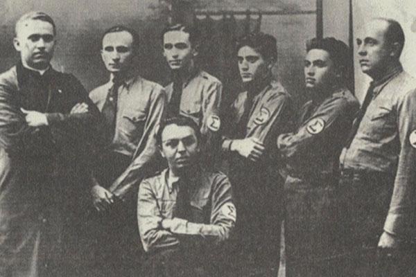 AIB-RN: Monsenhor Walfredo Gurgel, Felipe Nery, Miguel Seabra, Otto Guerra, Francisco Veras, Sinval Dias e Waldemar de Almeida